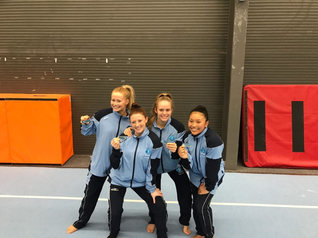 NSW state Acrobatics team captains